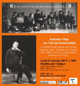 Flyer soirée Antoine Odéon 21 janvier 2019 - version orange DEF